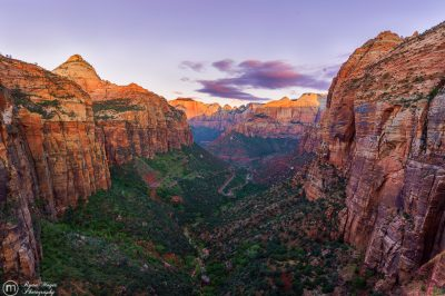 Canyon Overlook Sunrise